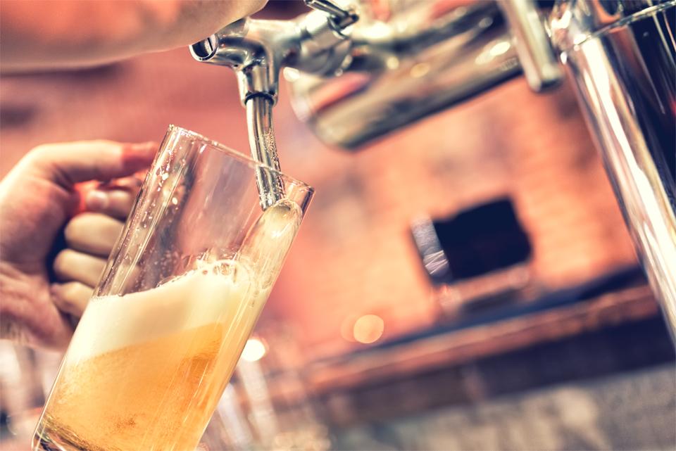 bezglutenowe piwo z beczki